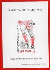 MONACO bloc spéciaux n° 25 a coupe du monde football, TB ** et R! 230€