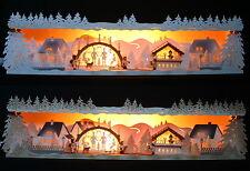 Schwibbogen-Erhöhung Weihnachtsstimmung 79cm Unterbank Holz Erzgebirge Advent