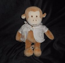 "10"" MIYIM ORGANIC BABY MONKEY BROWN & TAN STUFFED ANIMAL PLUSH TOY LOVEY SOFT"