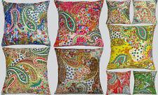 Indian Kantha Handmade Cotton Cushion Cover Paisley Pillow Home Decor 10 PCs Lot