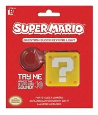 Super Mario Question Block 3D Key Chain KeyRing Light with Coin Sound NEW UNUSED