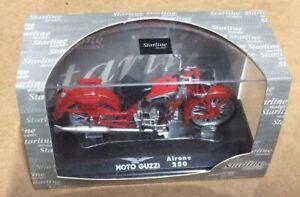 1:24 Echelle Modèle Moulé Moto Guzzi Airone 250 Rouge Moto Starline 99008