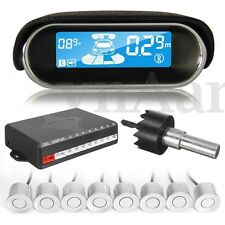 Car Parking Sensor System 8 Rear/Front View Reverse Backup Radar Kit Waterproof