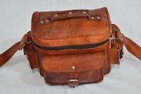 Pure leather handmade messenger brown vintage shoulder camera COSTUME MADE LIST