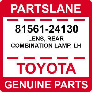 LEXUS OEM FACTORY DRIVERS SIDE TAIL LAMP LENS 2006-2010 SC430 81561-24130