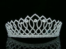 Pageant Queen Rhinestone Crystals Bridal Wedding Prom Tiara Crown 8372