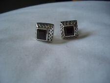 925 sterling silver earrings with garnet !!!