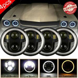 "4PCS 5 3/4"" 5.75  Projector LED Headlights Sealed Beam  Ring Lamps Bulbs"