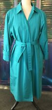 London Fog Coat Jade Green Size 12 Petite Towne Thermal Thinsulate Lining