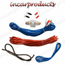 8G Guage CAR AUDIO AMPLIFICATORE Cablaggio Installazione Kit 1200 WATT