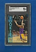 1996-97 TOPPS STADIUM CLUB R9 KOBE BRYANT ROOKIE SGC 9 MINT LOS ANGELES LAKERS