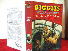 BIGGLES WORKS IT OUT 1st edition 1951 Hardcover with copy jacket WE JOHNS Stead