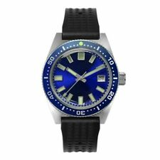 San Martin New Dark blue 62MAS Men Automatic Watch diving Sapphire 20ATM NH35