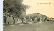 Wisconsin, Wi, Coloma, Main Street 1914 Postcard
