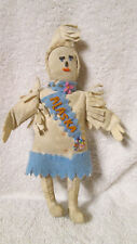 VTG Inuit Eskimo Alaska Leather & Bead Souvenir Doll - L5