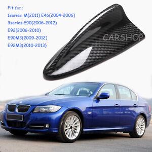 For BMW E90 E91 E92 M3 335i E46 1M Real Carbon Fiber Shark Fin Antenna Cover Cap