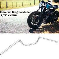 "NEW 7/8"" Inch Chrome Motorcycle Drag Bar Handlebar Cruiser Chopper Cafe Racer"
