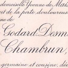 Marie Jeanne Godard-Desmarest Joseph Pineton De Chambrun 1891