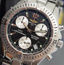 BREITLING COLT CHRONO OCEAN A53350  BOX/PAPERS/WARRANTY EXCELLENT 2000 YEAR