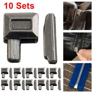 10Sets Metal Zipper Repair Stopper Open End Tailor Sewing Fabric Tools Craft New