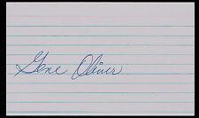Gene Oliver (D.2007) Autographe Signé Auto 3x5 Index Carte Baseball Joueur H4801