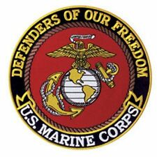 "U.S. MARINE CORPS DEFENDERS OF FREEDOM 5"" Circle sew on high quality EMBLEM GIFT"