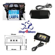 Motorcycle motorbike bobber custom quad SMD LED number plate tail light