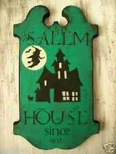 Primitive Halloween Sign SALEM HOUSE Since 1692 Witch Tavern Style Sign Witch