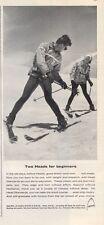 1965 Vintage Head Snow Ski's  PRINT AD