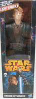 "DAMAGED BOX STAR WARS ANAKIN SKYWALKER 12"" FIGURE GREAT GIFT HASBRO"