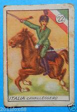 figurines cards cromos figurine v.a.v. vav 22 la guerra nostra 1942 cavalleggeri