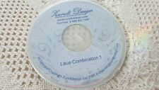 Zundt Lace Combination 1 Embroidery Designs cd LACE BOWL DOILY EXCELLENT Pre-Own