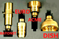 LPG Autogas FillER Point Adapters Set FOR ALL Europe KIT OF 4 TRAVEL SET + CASE