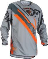Fly Racing Evolution 2.0 Jersey Dirt Bike MX Offroad Grey/Orange/Black, Size 2XL