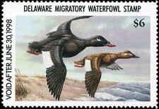 Delaware #18 1997 State Duck White Winged Scoter by Jeffrey Klinefelter
