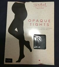 Isabel Maternity by Ingrid & Isabel Black Opaque Tights Size L/XL