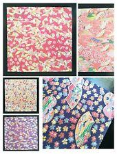 DELUXE Foil ✨ Set F Japanese Yuzen Origami Paper Sakura Cherry Blossom Cranes
