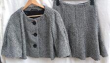 NEW $1499 EMPORIO ARMANI Women's Wool  Suit Jacket & Skirt Black & White Size 6