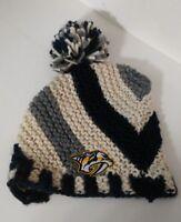 Nashville Predators NHL Old Time Stocking Cap Hat Beanie Knit Newbury Collection