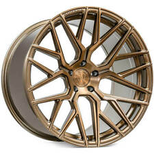 "4ea 19"" Staggered Rohana Wheels RFX10 Brushed Bronze Rims (S4)"