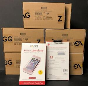 LOT OF 25 IPHONE 6 PLUS/6S PLUS ROSE GOLD SCREEN PROTECTOR ZAGG INVISIBLE SHIELD