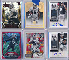 OAKLAND RAIDERS Lot 6pc  Contenders AUTO x2, SPs /25 & Colored Prizm RC