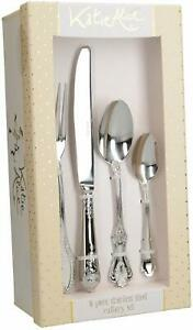 Katie Alice VINTAGE 16 piece CUTLERY SET Stainless Steel SHABBY CHIC Gift  BOXED