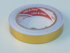 GOLD SOLID 20MM X 20M SELF ADHESIVE PIN STRIPE VINYL TAPE / CAR STYLING ref tp11