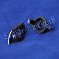 10pcs Chicken Head Knob Black 6mm Spline Shaft For Effect Pedal Amp Bass
