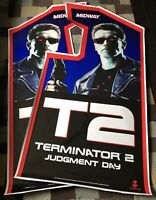 Terminator 2 Side Art Arcade Artwork T2 Decal Overlay Sticker Vinyl Midway