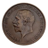 1930 Great Britain Penny XF Condition KM #838
