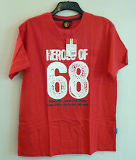 Official Manchester United Football Club Heroes Of 68 T Shirt Top Large BNWT Red