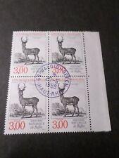 FRANCE 1988, BLOC timbres 2540, ANIMAUX, CERF oblitéré 1° JOUR FDC, STAMPS