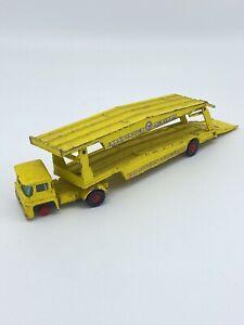 Matchbox Vintage King Size K-8 Guy Warrior Car Transporter Yellow Lesney England